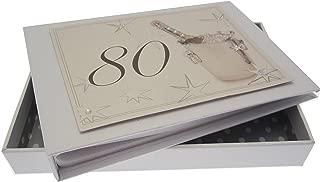 WHITE COTTON CARDS 80th Birthday, Mini Photo Album, Champagne Bucket