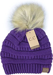 Crane Clothing Co. Women's Fur Pom CC Beanie