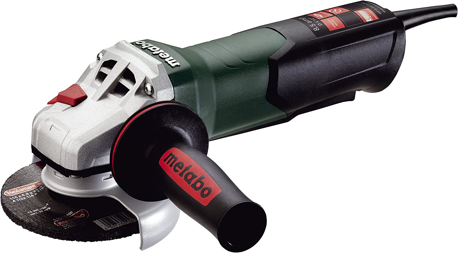 Metabo- 4.5&Quot; Angle Grinder - 10, 500 Rpm - 8.5 Amp W/Non-Lock Paddle (600380420 9-115 Quick), Professional Angle Grinders