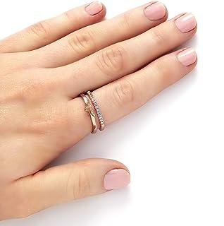 خاتم نحاسي مطلي بالذهب الوردي للنساء من اوليفيا بورتون -OBJAMR26