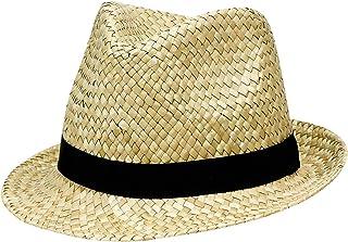 Amscan Straw Fedora Hat - Beige