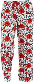 Hello Mello Trendy Womens Loungewear Pants with Luxurious Soft Fabric and Adjustable Elastic Waistband - Garden, Awake Break