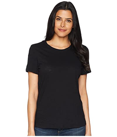 Lilla P Short Sleeve Back Seam Tee (Black) Women