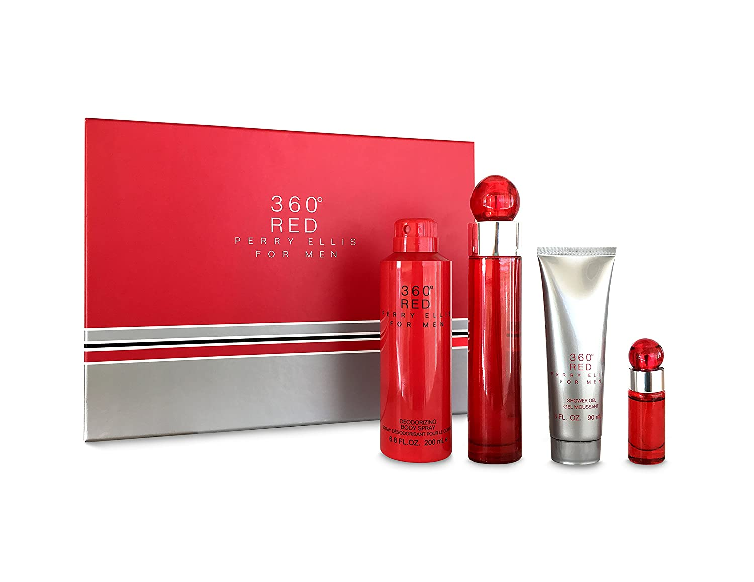 Perry Ellis Ranking TOP5 Fragrances 360 Red 4 for Free shipping on posting reviews Piece Men Set Gift