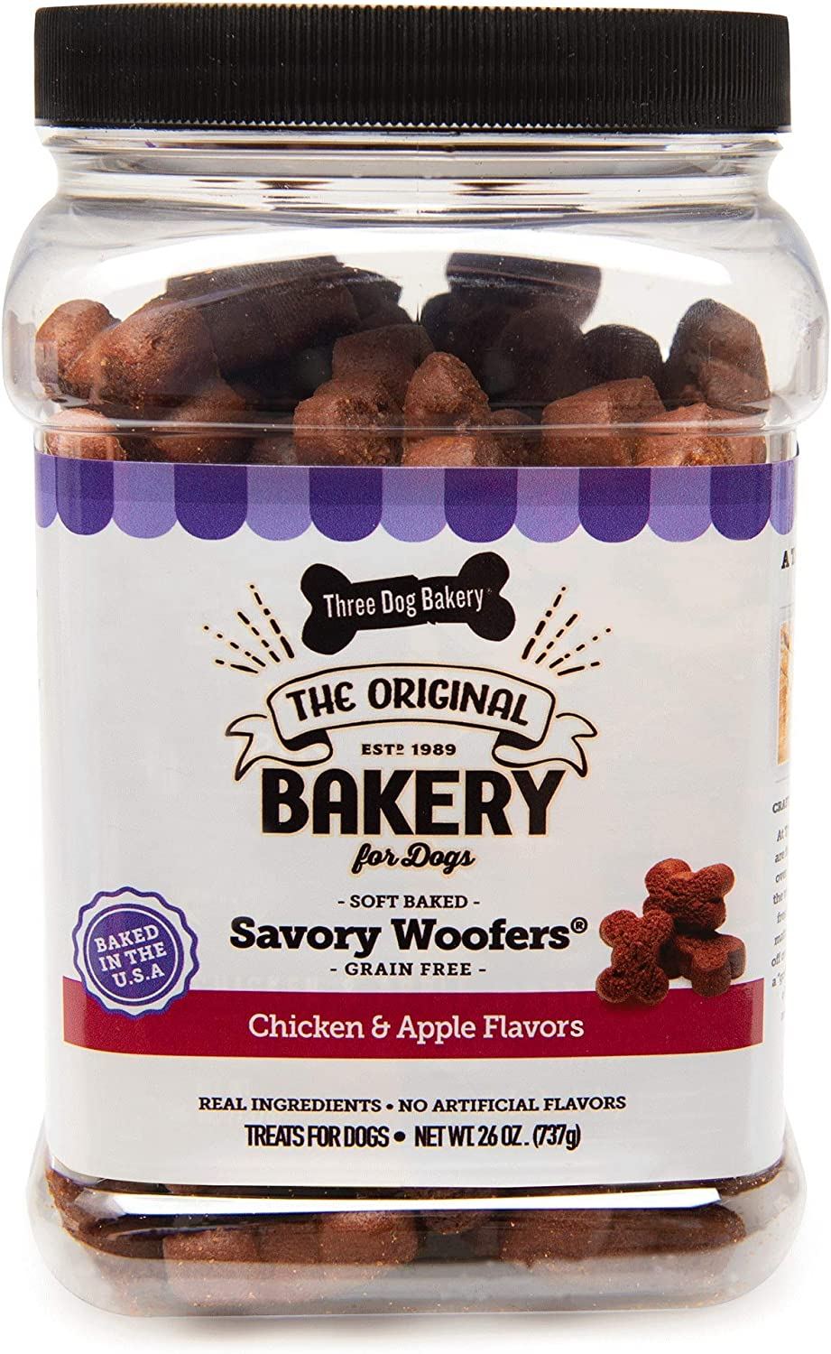 Three Dog Bakery Grain Free Max 79% OFF Soft For Meaty Sale SALE% OFF Dogs Wafers Baked 26