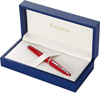 Waterman Carene Glossy Red, Silver Trim FP