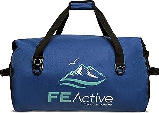 FE Active Bolsa de Lona Impermeable - Grande Bolsa Seca Mochila de Viaje para Camping, Trekking, Bolsa de Gimnasia, Bolsa de Kayak, Pesca, Navegación, Buceo y Bolsa de Playa | Diseñada en California