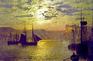 Odsan Gallery Scarborough by Moonlight - by John Atkinson Grimshaw - Canvas Prints 24