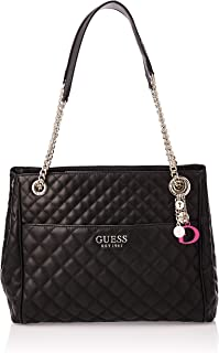 GUESS Women's Satchel Handbag, Black - VG758110