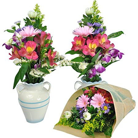 お供え お悔み 生花 花束 包装を外すと 一対 お悔やみ花 として使えます