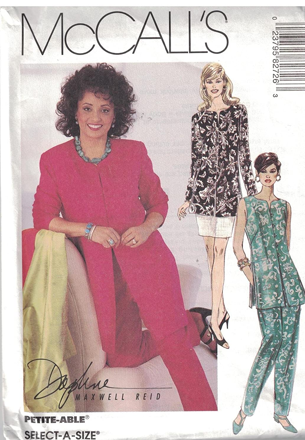 8272 McCalls Sewing Pattern Uncut Misses Jacket Vest Pull on Pants Skirt Size 8 10 12