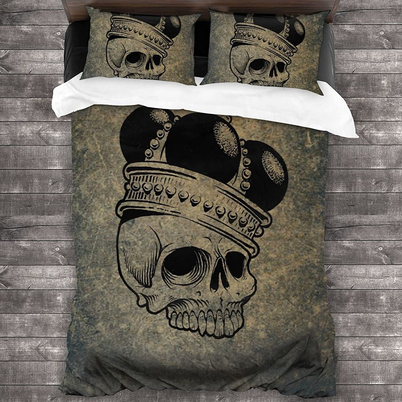 Olanustu Queen Comforter Set Skull Crown supreme and Lightweight Po Soft Mesa Mall