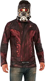 Rubie's Men's Marvel Guardians of the Galaxy Vol. 2 Star-Lord Costume Top and Mask, Standard