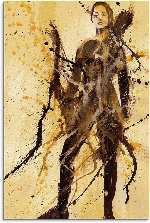 Jennifer Lawrence IIII 90x60cm 90x60cm 90x60cm Kunstbild auf Leinwand fertig zum aufhängen , Wandbild als Aqurell Art nach Gemälde von Paul Sinus B01A75J5UI 563cec