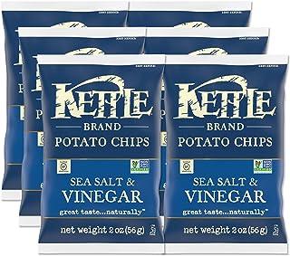 Kettle Brand Potato Chips, Sea Salt and Vinegar, 2-Ounce Bags, 6 Count