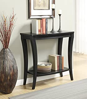 Convenience Concepts Newport Console Table with Shelf, Black