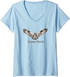 Osprey Hawk - Birds of Prey V-Neck T-Shirt