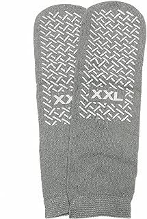 Medline MDT211218XXLI Safety Skids Slippers, XX-Large, Gray (Pack of 48)
