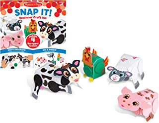 Melissa & Doug Snap It! Barnyard Farm Animals Beginner Craft Kit