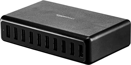 AmazonBasics 60W 10-Port Multi USB Wall Charger, Black