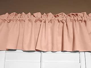 lovemyfabric 100% Polyester Poplin Solid Kitchen Curtain Tier/Valance Window Treatment (58