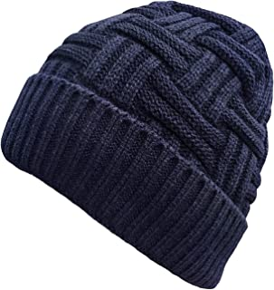 1-2 Pack Winter Hat Warm Knitted Wool Thick Baggy Slouchy Beanie Skull Cap for Men Women Gifts