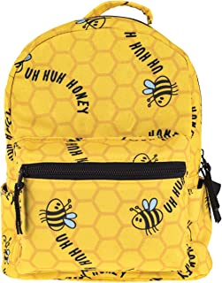 Cute 10 inch mini pack bag backpack for grils children and adult (bee)