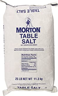 MORTON Table Salt, Bulk Salt, Foodservice, Great for Restaurants, Excellent for Cooking, Baking and Seasoning, Non Iodized Salt, Iodide Free, 25 Pound