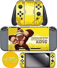 Controller Gear Nintendo Switch Skin & Screen Protector Set - Joy-Con & Console - Donkey Kong Swing