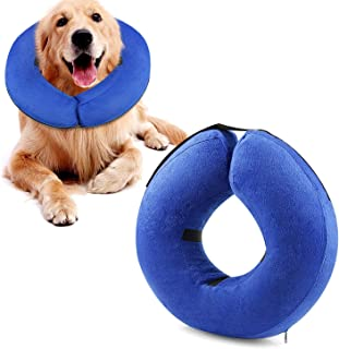 Godyce Protective Inflatable Dog Collar, Soft Pet Recovery E-Collar Cone for Small Medium Large Dogs, Designed to Prevent Pets from Touching Stitches, Wounds and Rashes, Does Not Block Vision