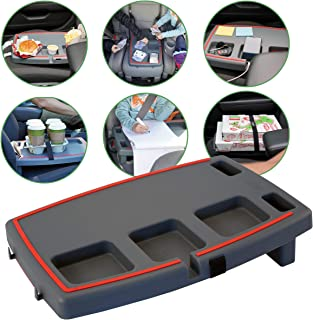 Stupid Car Tray - Car Tray Accessory, Laptop/Eating Desk, Organizer, Seat Leveler, Cell Phone Mount, Workstation/W Trash Hooks