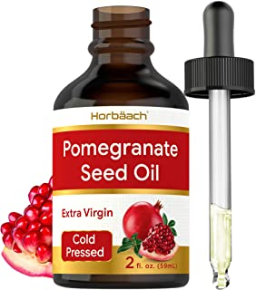 Pomegranate Seed Oil for Face & Hair | 2 oz | Cold Pressed | Unclogs Pores, Promotes Clear Skin, and Reduces Appearance of...