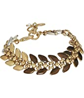 Lucky Brand - Tri-Tone Leaf Link Bracelet