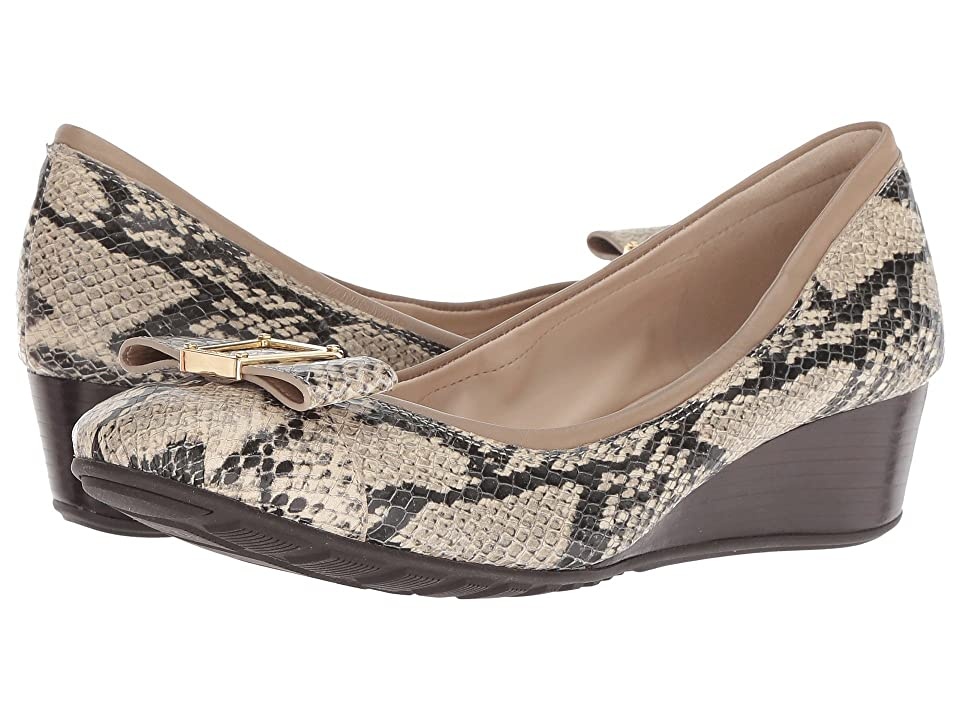 Cole Haan Emory 40mm Bow Wedge II (Roccia Snake Print) Women