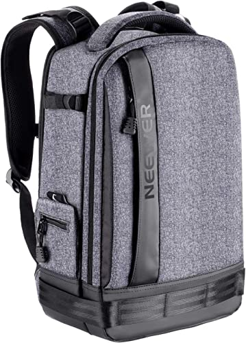 Neewer Camera Backpack Bag Detachable Padded Camera Case for DSLRs, Mirrorless Cameras, Lenses, Tripods, 13 inches La...