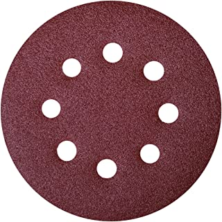 25-Pack Sungold Abrasives 023120 5 By 5 Hole 320 Grit Premium Plus C Weight Paper Hook And Loop Sanding Discs