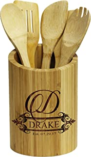 Personalized Kitchen Utensil Tool Holder Caddy Orgnaizer Storage - Custom Monogrammed for Free