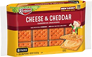 Keebler, Sandwich Crackers, Cheese and Cheddar, 11oz Tray (Pack of 6)