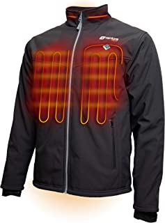 Men's Softshell Heated Jacket with Battery Pack - Windproof Electric Coat Outerwear, Outlast 2.0