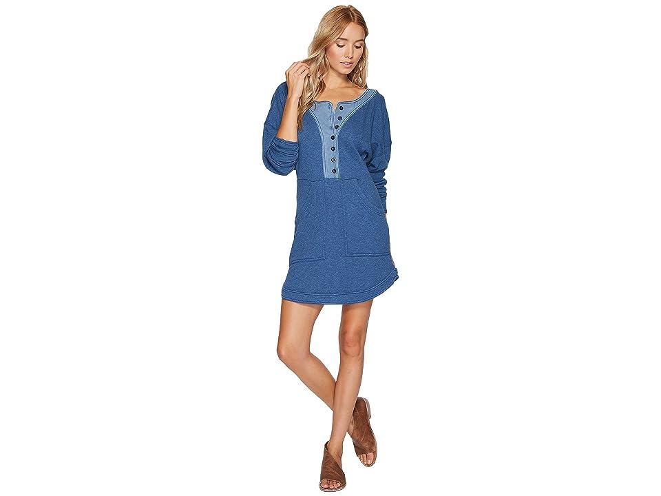 Free People Seeking Heart Mini Dress (Blue) Women