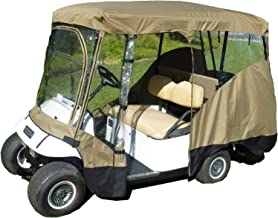 Formosa Covers Premium Tight Weave Golf Cart Driving Enclosure New YKK Door Zipper for 4 Passenger roof up to 80