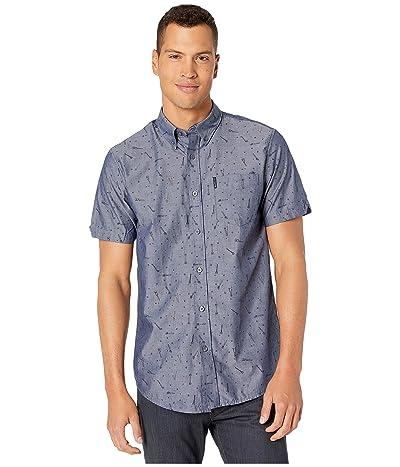 Ben Sherman Short Sleeve Tool Time Print Shirt (Dark Blue) Men