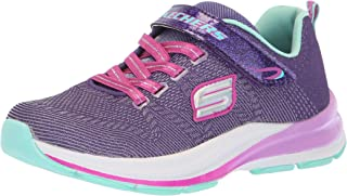 Skechers Kids Girls' Double STRIDES-Duo Dash Sneaker, PRTQ, 13 Medium US Little Kid