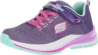 Skechers Kids Girls' Double STRIDES-Duo Dash Sneaker, PRTQ, 3 Medium US Little Kid