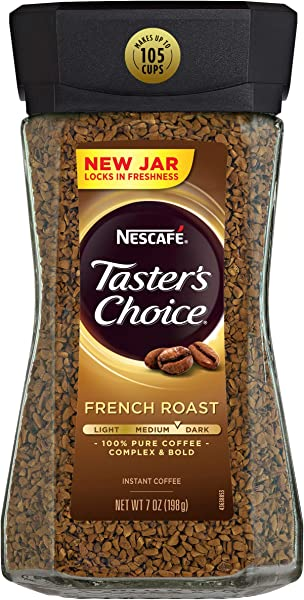 Nescafe Taster S Choice French Roast Instant Coffee 7 Ounce 6 Pck