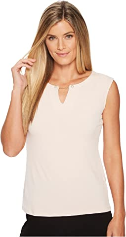 Calvin Klein - Sleeveless Top w/ Pearl Detail