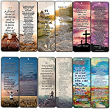 Christian Bookmarks with Popular Bible Verses (30-Pack) - Stocking Stuffers for Adults Teens Kids Men Women Boys Girls - Baptism Mission Evangelism Bible Study Church Supplies