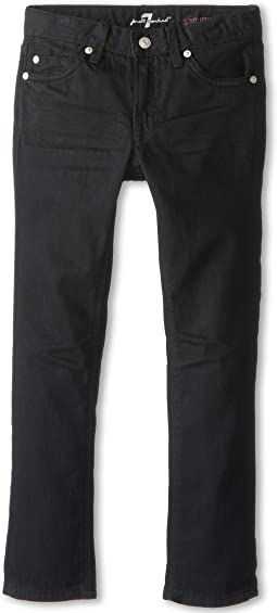 7 For All Mankind Kids - Slimmy Jean in Black Out (Little Kids/Big Kids)