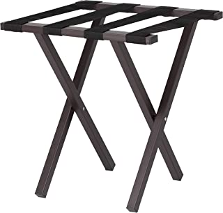 Wholesale Hotel Products Mini Metal Luggage Rack, Brown Powder Coat Finish, No Assembly Required