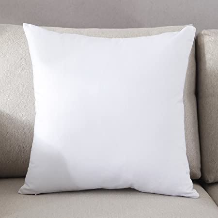 4-Pack Cotton Solid Decorative Throw Pillow Case Square Cushion Cover Pillowcase